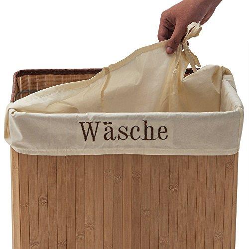 Wäschebox – Bambus, 70 Liter