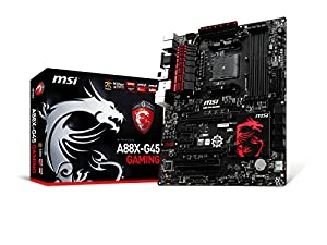MSI A88X-G45-GAMING-ACLHD A88X AMD ATX Motherboard (4x DDR3, 8x USB3.0, Socket FM2+)