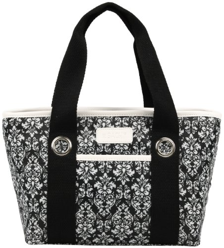 sachi-11-161-insulated-fashion-lunch-tote-black-and-white-damask-by-sachi