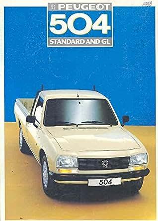 Amazon.com: 1988 Peugeot 504 Pickup Truck Sales Brochure