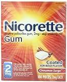 Nicorette Cinnamon Surge 100ct 2mg, 0.46 Packages