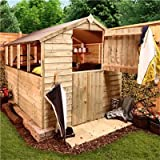 BillyOh Classic 8 x 6 Pressure Treated Overlap Apex Garden Shed