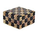 Avinash Handicrafts Soap Stone Carved Jwellery Box Chess Style (11.5cm X11.5cm X6.5cm)