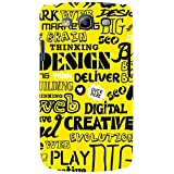 For Samsung Galaxy S3 I9300 :: Samsung I9305 Galaxy S III :: Samsung Galaxy S III LTE Word Pattern ( Word Pattern, Design, Thinking, Good Quotes, Yellow Background ) Printed Designer Back Case Cover By FashionCops