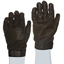 "Ansell ActivArmr 46-408 Nomex Kevlar Flame Resistant Tactical Combat Glove with Textured Grip, Cut Resistant, 10"" Length, Large, Black (1 Pair)"