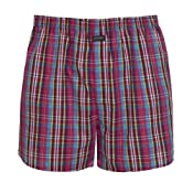 Woven Boxer, Small Red Check