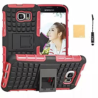 Galaxy E5 Case, ANLI(TM) Heavy Duty Series Tough Rugged Dual Layer Protection Case Cover with Build in Stand for Samsung Galaxy E5,with Screen Protector, Stylus and Cleaning Cloth by ANLI