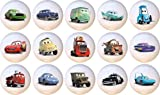 Disney Cars Drawer Pulls Knobs Set of 15