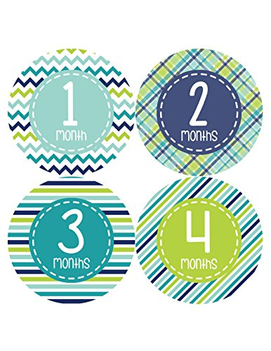 Months in Motion 360 Monthly Baby Stickers Baby Boy Milestone Age Sticker Photo