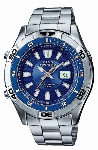Casio WVQ-142DU-2AVER Mens Radio Bracelet Controlled Watch