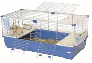 Marchioro Tommy C 120 Cage for Small Animals, 46.75 inches, Blue/Silver