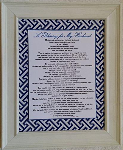 A Blessing for My Husband - Framed Inspirational Prayer - Anniversary, Birthday, or Father's Day Gift (Personalization Available)
