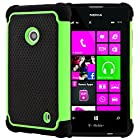 CellJoy® Triple Defender Layered Armor Back Cover Case for Nokia Lumia 521 (At&t / Metro / T-Mobile / Cricket) ***WILL NOT FIT LUMIA 520*** [CellJoy Retail Packaging] (Lime Green / Black)