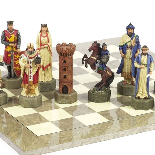 "Hand Painted Crusade Chessmen- Giant Size King:6 7/8"" at Amazon.com"