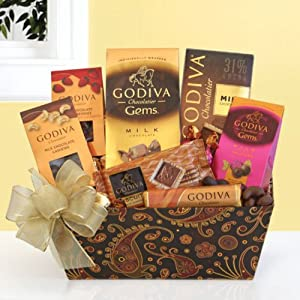 Godiva Milk Chocolate Gala Gift Basket