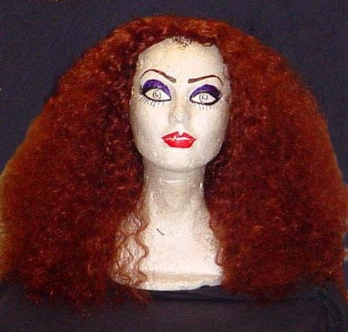 [Magenta Rocky Horror Picture Show Long Curly Frizzy Red Wig!] (Rocky Horror Wig)