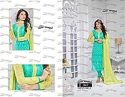 Rudraksh Fashion Womens chiffon Anarkali Dress Material (212B )