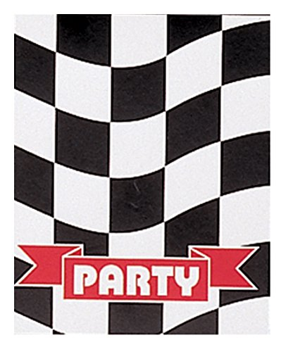 Creative Converting 8 Count Invitations, Black/White - 1