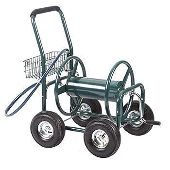 Water Hose Reel Cart 300 FT Outdoor Garden Heavy Duty Yard Water Planting Cart