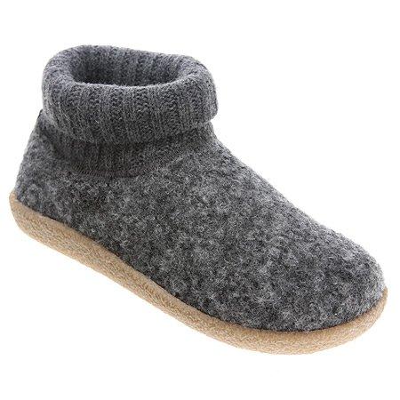 Cheap Giesswein Vacha Women's Hard Sole Slippers, Grey (47850-017)