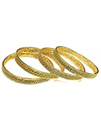 Shingar Jewellery Ksvk Jewels Antique Gold Plated Bangles Set For Women (9283-m-c-p)