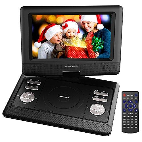 dbpower-reproductor-de-dvd-portatil-de-105-con-pantalla-giratoria-4-horas-recargable-incorporada-de-