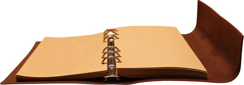 Classic Refillable Writing Journal (Naval Compass Embossing) - Vintage Leather (PU) Design- Includes Bamboo Pen 4