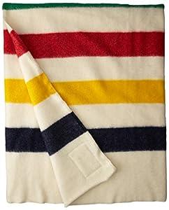 Hudson Bay 6 Point Blanket, Natural with Multi Stripes
