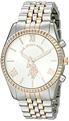 U.S. Polo Assn. Women's USC40056 Two-Tone Watch with Link Bracelet