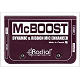 Radial McBoost 1-channel Active Mic Boost Direct Box (Color: Purple)
