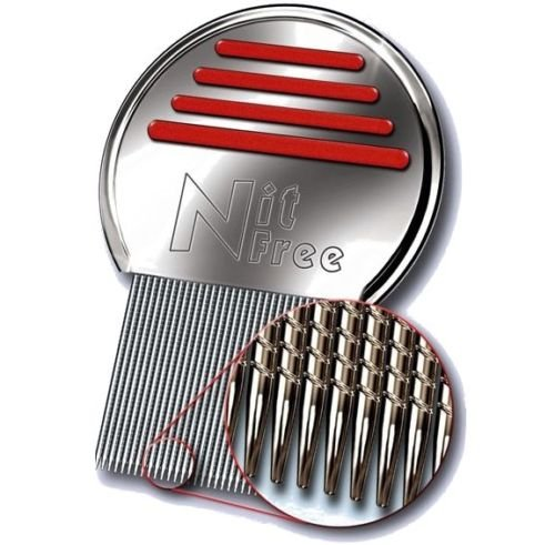 ORIGINAL Nit-Free Terminator Comb - Proven the Best Lice Comb on the Market! Get Rid of Head Lice & Nits Easily with this Professional Stainless Steel Comb by LEVIA.
