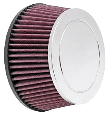 K&N RC-9990 High Performance Universal Clamp-on Chrome Air Filter