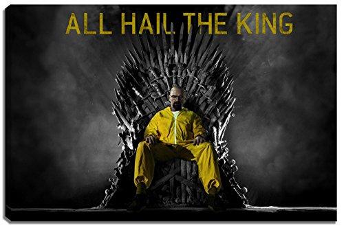 Dark Breaking Bad, Game of Thrones scena su tela Formato: 60x40 cm. Stampe d'arte di alta qualità come murale. Più economico di un dipinto a olio! ATTENZIONE NO poster o poster!