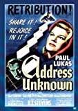 Address Unknown [DVD] [1944] [Region 1] [US Import] [NTSC]