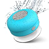 JEMMA Waterproof Bluetooth Speaker Wireless Shower Portable Hand-Free Call with Mic (Blue)