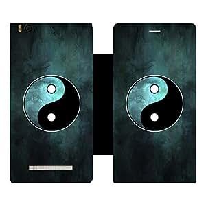 Skintice Designer Flip Cover with Vinyl wrap-around for Xiaomi Redmi Mi4i , Design - Yin & Yang