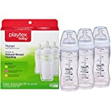 Playtex BPA Free Premium Nurser Bottles with Drop In Liners 3 Count, 8 Ounce