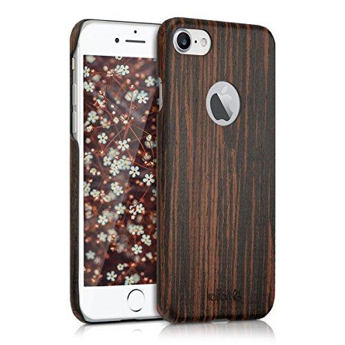 kalibri-Holz-Case-Hlle-fr-Apple-iPhone-7-Handy-Cover-Schutzhlle-aus-Echt-Holz-und-Kunststoff-aus-Lindenholz-in-Dunkelbraun