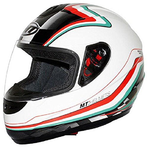 Casque moto intégral MT THUNDER NEW ITALY - Blanc / Rouge / Vert