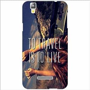 Yureka Plus Back Cover - Silicon Travel To Live Designer Cases