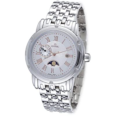 Gevril Prime Minister Silver Dial Dual Time Mens Watch M0111R2B
