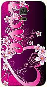 Wonderful multicolor printed protective REBEL mobile back cover for Samsung Galaxy S5 / SM-G900I D.No.N-L-14261-S5