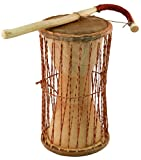 "Overseas Connection African Talking Drum, 11"" x 5"""