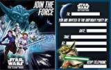 Star Wars Clone Wars Party Invites & Envelopes x 6