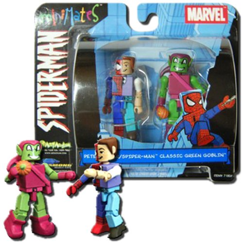 Marvel Minimates Peter Parker Spider-man and Classic Green Goblin Series 2 (Marvel Minimates Green Goblin compare prices)