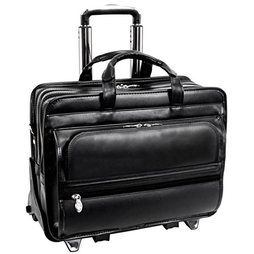 McKleinUSA FRANKLIN 86445 Black Leather 17 Detachable Wheele