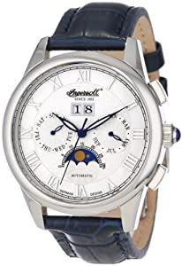 Ingersoll Automatic Men's Watch IN8402WH with Dark Blue Leather Strap
