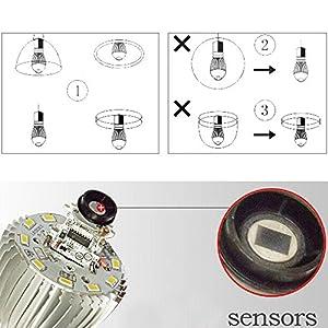 LJY E27 7W White Light PIR Infrared Motion Detect & Light Sensor LED Energy Saving Spotlight Lamp Bulb