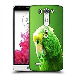 Snoogg Green Parrot Designer Protective Phone Back Case Cover For LG G3 BEAT STYLUS