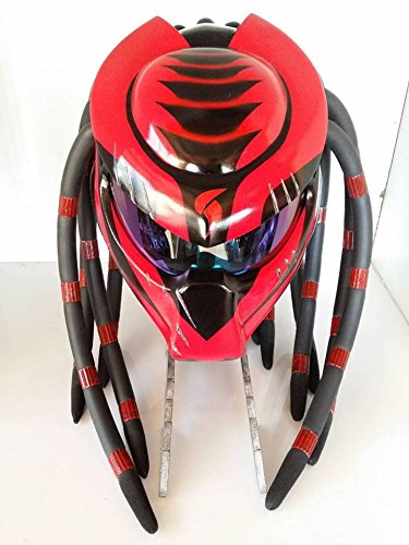 RED Predators style safety helmet motorcycle adult hight quality handmade.